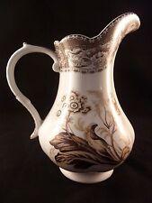 Antique Reflections by J. GODINGER & Co. White Porcelain Pitcher w/ Brown Design