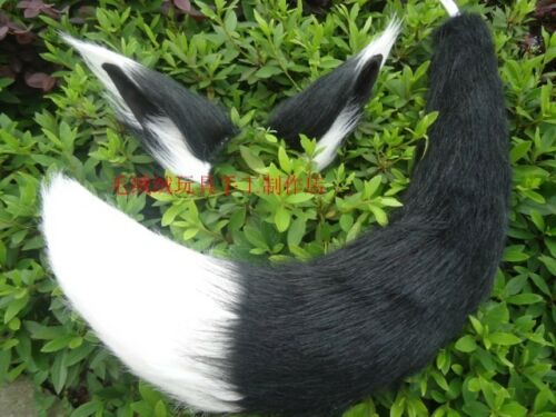 Anime Long Fur Fox Headband Ear Tail Cosplay Prop Fancy Dress Halloween
