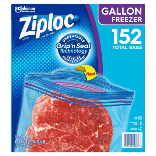 Ziploc Double Zipper Freezer Bag Gallon 4-pack 38-count