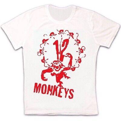 12 Scimmie Graffiti Hipster Retrò Vintage T-shirt Unisex 632-