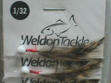 Lot Of 12 Weldon Steel Header Jigs 1//32oz RED HEAD//YELLOW