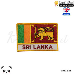 SRI-LANKA-National-Flag-With-Name-Embroidered-Iron-On-Sew-On-Patch-Badge