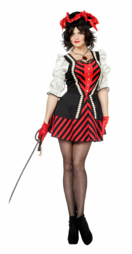 Piratin Kostüm Piratenkostüm Damen Piratenbraut Seeräuberin Freibeuter Karneval