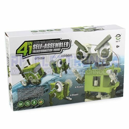 4 in 1 Self-assembled Transformation Robot for Kids Gift Toys