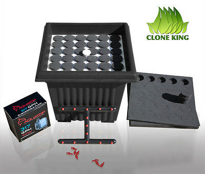 THE CLONE KING 36 SITE AEROPONIC PLANT CLONING MACHINE CLONER CLONING VERY EASY!