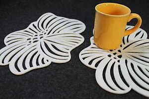 Placemats-Flower-Blossom-Art-Felt-Table-Mats-Set-of-4-Laser-Cut-Handmade-Ireland