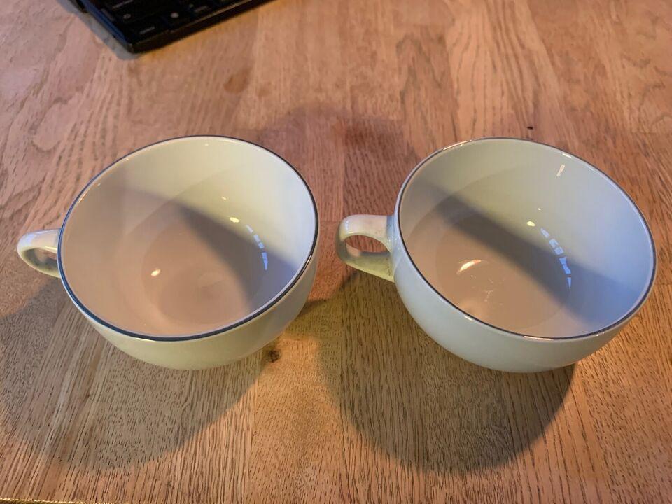 Fajance, Kaffekop, Royal Copenhagen blå kant