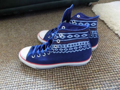 Blue 5 Lace Converse New All Suede 7 Size Hi Top Brand Star Up CqxSx4w0T