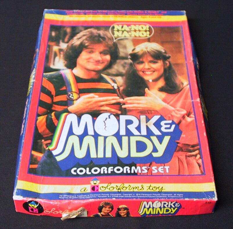 MORK & MINDY TV SHOW NANO COLORFORMS VINTAGE 70's NOT COMPLETE SET BOX NO BOOK