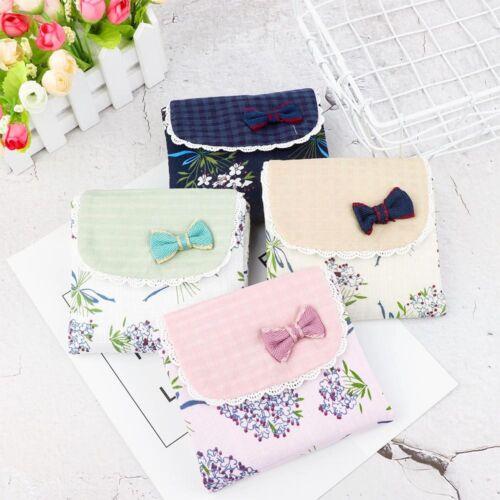 Mignon Fleur Motif Sanitary Towel Serviette Pad Sac Coque Support pour fille
