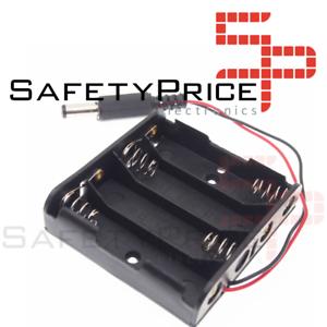 Capable Portapilas Battery Holder 4xaa Porta 4 Pilas Lr06 Aa Conector Dc Arduino Sp Rendre Les Choses Pratiques Pour Les Clients