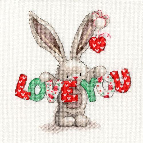 Bothy Threads Cross Stitch Kit Love You