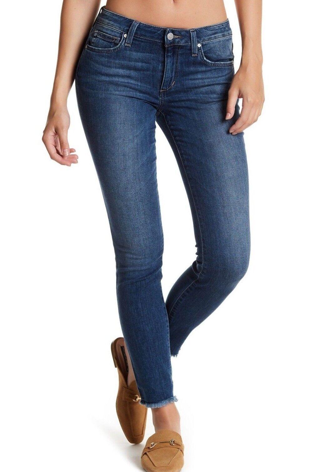 Nwt JOE´S Sz25 die Eng Anliegende Knöchel Roh Saum Jeans Stretch