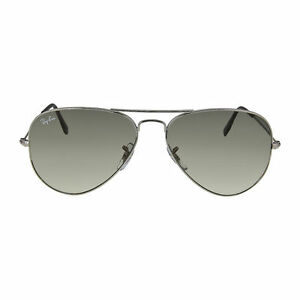 074e8ddd9bdad Ray-Ban Rb3025 Aviator Large Metal Sunglasses Silver Frame crystal Gray  Gradient Lens 58 Mm