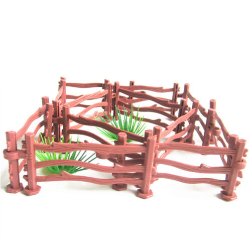 10XKids Military Sand Scene Toy Accessories Mini Simulation Double Hook Fence YH