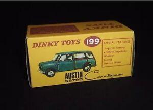 Dinky 199 Austin Seven Compatriote Vide Repro Uniquement Pour La Boîte-afficher Le Titre D'origine Aknod8ci-07175542-115147967