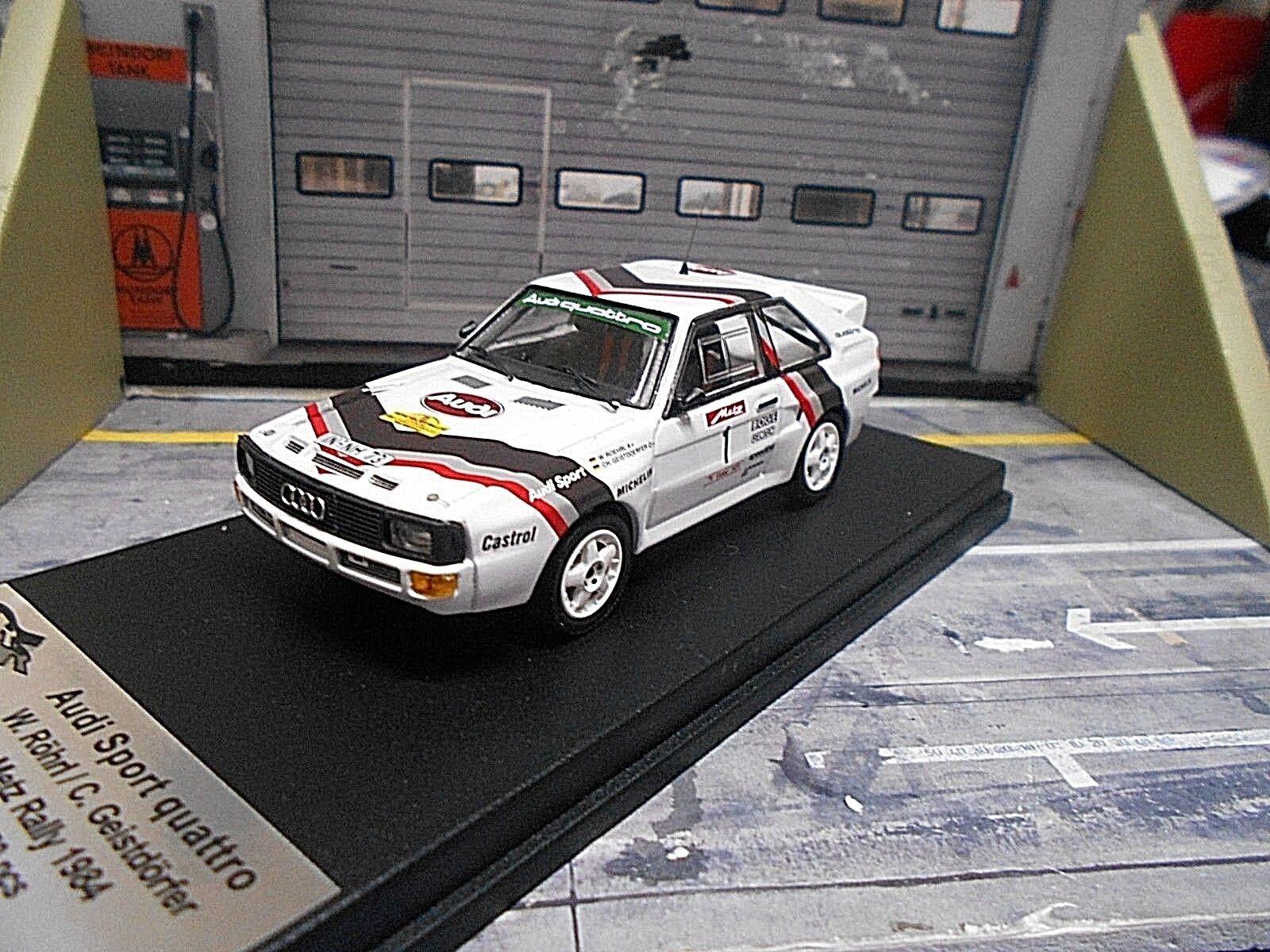 Audi quattro Sport Rally DRM Metz 1984  1 Röhrl spirito villaggi NUOVO Trofeu 1 43