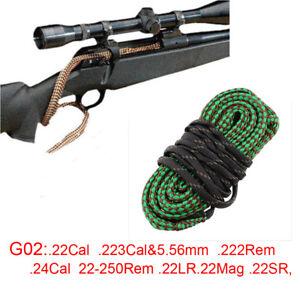 Bore Brush Cleaning Sanke .22 Cal .223 5.56mm .222 .24 22-250 Rem .22 LR  Mag SR