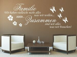 g317 spruch wandtattoo familie wir haben zusammen sticker wandaufkleber zitat 1 ebay. Black Bedroom Furniture Sets. Home Design Ideas