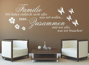g317 spruch wandtattoo familie wir haben zusammen sticker. Black Bedroom Furniture Sets. Home Design Ideas