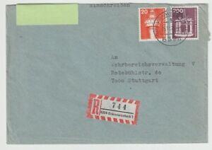 Einschreiben von 6394 Grävenwiesbach nach Stuttgart, 1976 - Norderstedt, Deutschland - Einschreiben von 6394 Grävenwiesbach nach Stuttgart, 1976 - Norderstedt, Deutschland