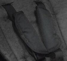 Phil et teds Promenade harnais jeu de coussinets, noir harnais couvertures x 2