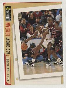 nba UPPER DECK 1996  MICHAEL JORDAN  Assignment SONICS BASKETBALL CARD # 366