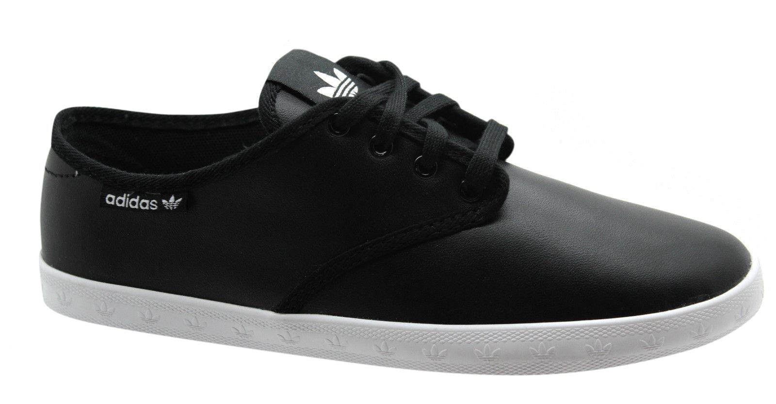 Adidas Originals Adria Plimsole Para Mujer Zapatillas De Encaje Cuero Negro De Encaje De m20740 u53 036238