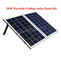 50W Portable Folding Solar Panel Complete Kit for 12V Battery Power Charge Boat