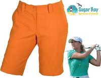 Nike Golf Ladies Long Shorts Modern Rise Sporty Short Turf Orange Inside Leg 11