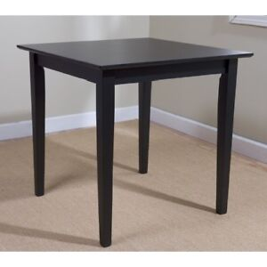 Details About Square Dining Table Black Wooden Small E Kitchen Room Solid Wood Dorm Desk