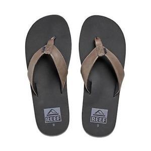 073f23a1e79e New Reef TwinPIN Leather Sandals Flip Flops Dark Brown Men 8 Thong ...