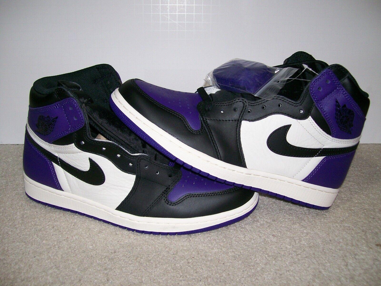 NEW SZ 10.5 Nike Air Jordan 1 High OG Court Purple Royal Bred XI 555088 501 IV V