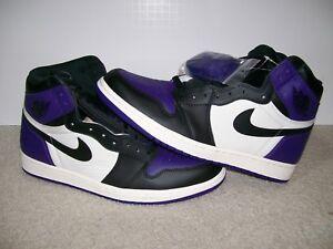 quality design 58d74 1f07d Details about NEW SZ 10.5 Nike Air Jordan 1 High OG Court Purple Royal Bred  XI 555088 501 IV V