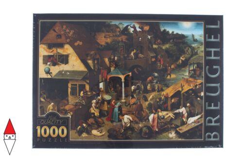 PUZZLE ARTE DTOYS PITTURA FIAMMINGA BRUEGHEL NETHERLANDS PROVERBS 1000 PZ