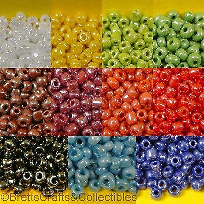 40 grams // 1.40oz per Bag Spheroid Pearl Finish Glass Seed Beads #10//0