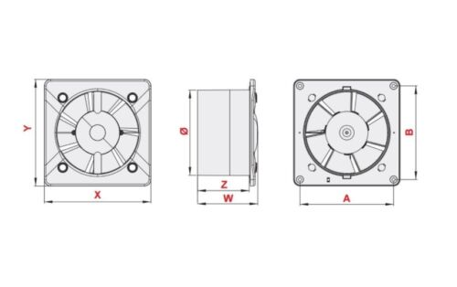 "Silent Bathroom Extractor Fan 100mm 4/"" Silver Front Panel Low Energy S100PES"