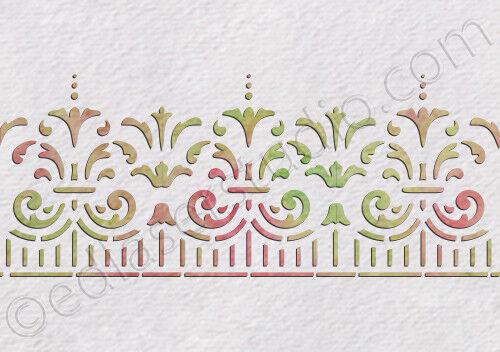 Lace Frame Ornaments Stencil Vintage Template Crafts Card making Furniture LA35