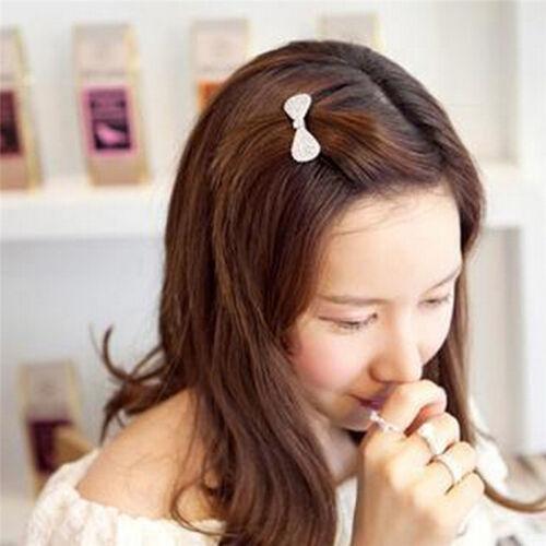 Mädchen Frauen Kristall Haarspange Haarspangen Bowknot Haarschmuck Mode  ZF