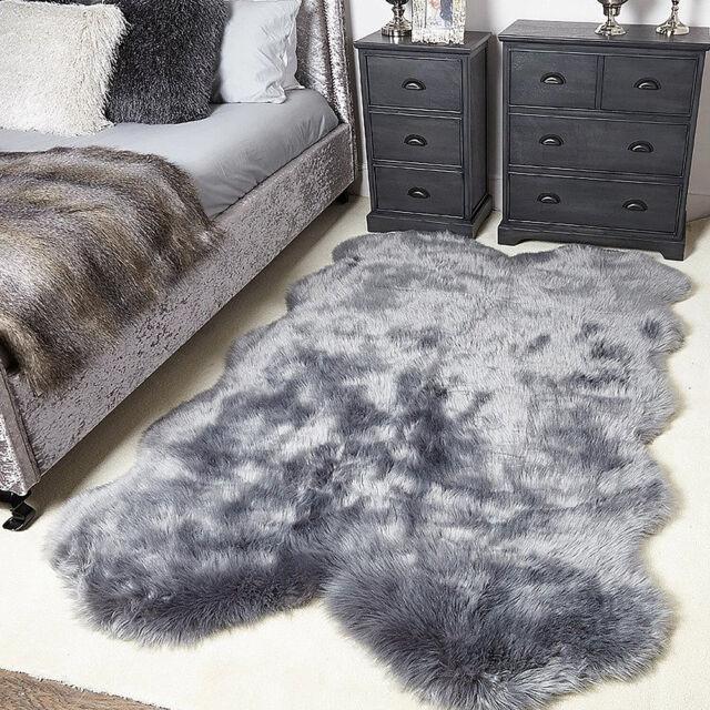 Sheepskin Area Rug Super Soft Fluffy