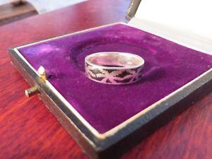 Schoener-925-Sterling-Silber-Ring-Email-Stilisiertes-Hanf-Blatt-Cannabis-Palmen