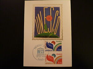France Premier Jour Fdc Yvert 56/57 Unesco 1,70+1,20f Paris 1978