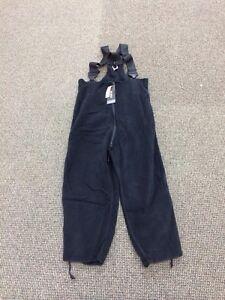 USGI-Polartec-Black-Fleece-Overalls-Extra-Large-XL-Short-Regular
