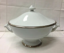 "HAVILAND ""SYMPHONIE PLATINUM"" ROUND SOUP TUREEN 77 OUNCE LIMOGES FRANCE NEW"