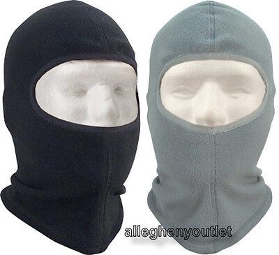 POLAR FLEECE Balaclava ONE HOLE Winter Ski Face Mask BLACK or FOLIAGE NEW