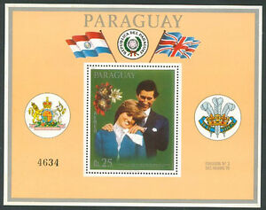 PARAGUAY-LADY-DIANA-Michel-Bl-362-a-Mint-No-Hinged-VF