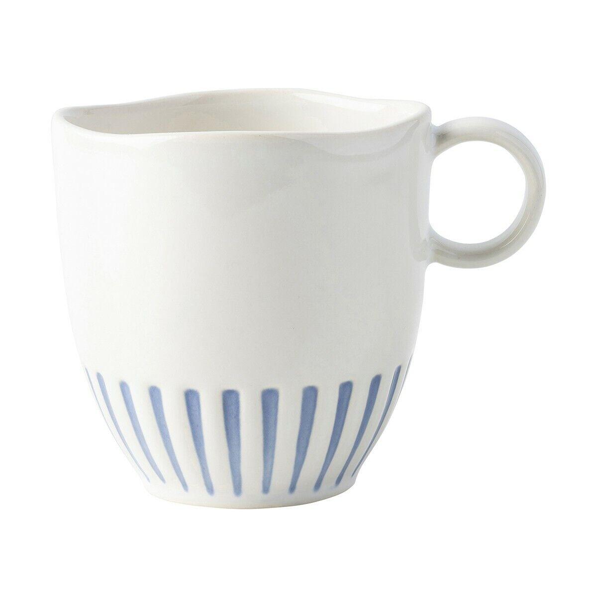 Juliska Sitio Stripe Indigo Mug - Set of 12