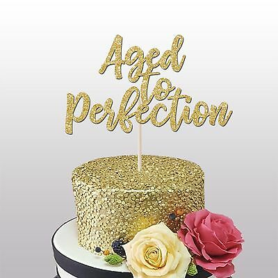 60 and fabulous cake topper glitter card,40th,50th, 60th birthday decoration