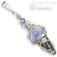 Tanzanite Crystal Point Wire Wrapped Sterling Pendant Artisan Handmade