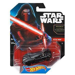 Mattel-hot-wheels-star-wars-1-64-scale-diecast-Kylo-ren-personnage-voiture-CGW50